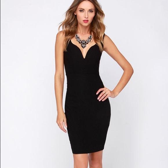 Lulus Dresses Exclusive Pin Up To No Good Black Midi Dress Poshmark